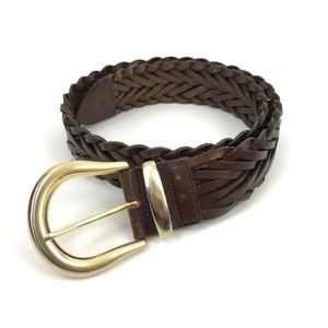 Vintage Express Braided Brown Belt
